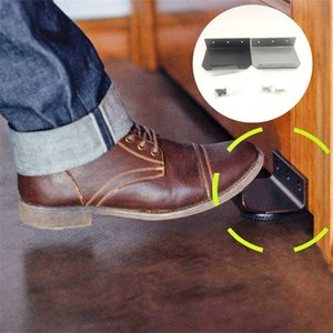 Hands Free Door Opener No Touch Foot Operated Door Opener Handle Bracket Thick Metal Convenience Home Door Opener Accessories