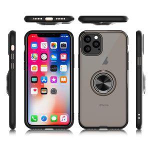 자석 링 실리콘 케이스 아이폰 X XR XS MAX 6 6S PLUS 7/8 커버 뉴 럭셔리 디자이너 아이폰 (11) 프로 맥스 전화 케이스