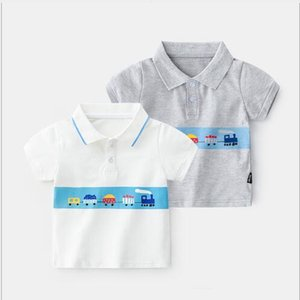 Boy's short sleeve T-shirt pure cotton baby summer wear new summer children's top baby's summer polo