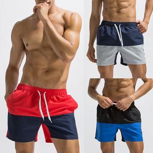 Swiming Man 수영복 Mens Breathable Swim Trunks 바지 수영복 반바지 슬림웨어 Briefs 바느질 컬러 바지 반바지
