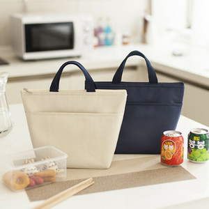 Women Men Home Thermal Insulated Lunch Box Cooler Bag Tote Bento Pouch Lunch Container Portable Outdoor Picnic Food Lunch Bags