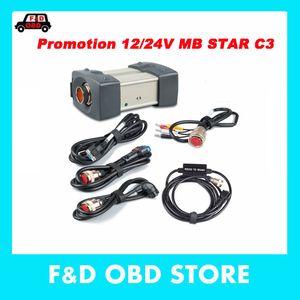 MB Star C3 Outil de diagnostic avec câbles complets avec multiplexeur RS232 et OBD II câble 16 broches pour voitures DHL livraison gratuite