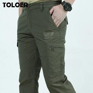 Senderismo pantalones impermeables Hombres bolsillos de peso ligero de secado rápido al aire libre Montaña Escalada Pantalones Trekking camping pesca deportiva Pant