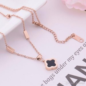 luxury jewelry designer necklace for women titanium steel clover pendant necklace hot fashion free of shipping