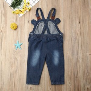 Summer Toddler Kid Baby Boy Girl Bear Clothes Sleeveless Romper Overalls Bib Pants Denim Outfit