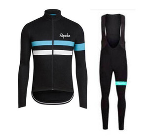 2019 equipa Rapha SIDI camisa de ciclismo mangas compridas (bib) calças sets mens ropa secagem rápida ciclismo roupa BTT corrida desgaste lzfshop