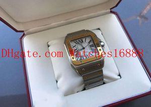 Con la caja de calidad superior del reloj para hombre XL 100 42 mm automático acero del oro amarillo de 18 quilates mecánico automático del reloj del movimiento de los hombres de W200728G