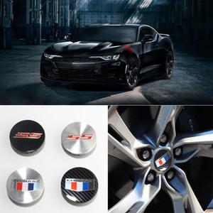 4pcs / set Chevrolet Camaro ZL1 ruedas 67mm Corvette coche Neumáticos tapacubos la cubierta del centro de Camaro SS Logotipo de la insignia del emblema del borde del eje de rueda del casquillo del centro