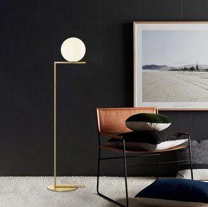 Nordic gold chrome simple ball glass floor lamp creative Standing Lamp living room bedroom study fashion decoration floor lamp LLFA