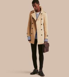 SICAK KLASİK! Erkek Modası İngiltere Stil orta uzun siper / yüksek kaliteli pamuk erkekler B86887F570 S-XXL için kruvaze trençkot markaları