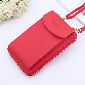 Women Wallet 2020 Fashion PU Leather Shoulder Bag Women Celephone Big Card Handbag Pockets Multi-function Diagonall Small Bag