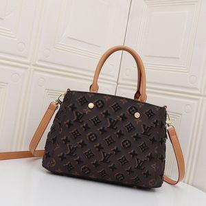 Neue Art und Weise Luxuxstickerei hydraulische Schultertasche Damen Damen Fadenfarbe passende Handtasche Tasche weich und bequem M41055X2 einkaufen