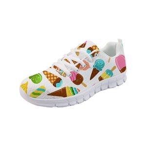 Noisydesigns 2019 Vente Chaude Sneakers pour Femmes Casual Chaussures de Marche D'été Crème Glacée Zapatillas Mujer Deportiva Chaussures De Course