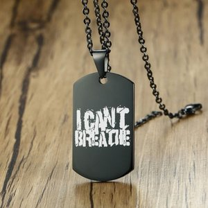 I can't breathe American black men and women stainless steel custom necklace pendant souvenirs support customization
