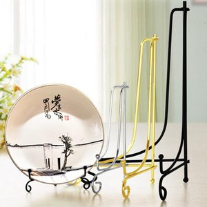 50pcs Iron Foldable Dish Display Rack Prize Bracket Base Desktop Decorate Clock Picture Frame Crafts Display Easel