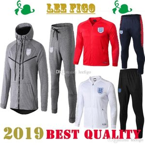 England 2019 куртка балахон комплект Survetement 2019 UK RASHFORD DELE VARDY LINGARD KANE HENDERSON тренировочный костюм с длинным рукавом футбол спортивный костюм