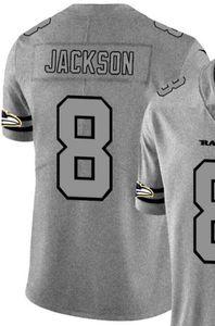 Chanvre Ash Throwback Limited Jersey Homme Baltimores hommes 8 Chemises jersey Toutes les équipes maillots de football américain