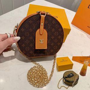 Designer de luxe sacs à main Louis Vuitton Sacs à main de femmes de personnalité épaule chaîne Sac Europe et Amérique sacs de mode ronde viennent avec la boîte