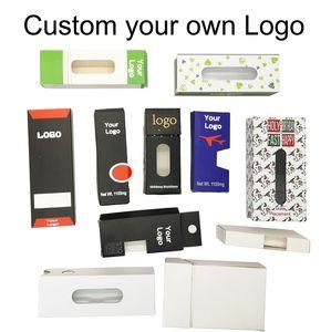 Logo OEM Bag Box personalizado Design de Embalagem personalizado Vape Cartuchos pacote vazio caixas de Mylar sacos mangetic Box Paper Box Childproof Packing