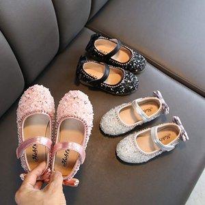 Children Leather Shoes Child Girls Princess Spring Autumn Shoes Chaussure Enfants Sandals Party Sequins Dance 11