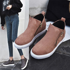 Boots Women Women Ankle Boots Wedges Autumn Female High Heel Zipper Shoes Ladies Fashion Botines Mujer 2020