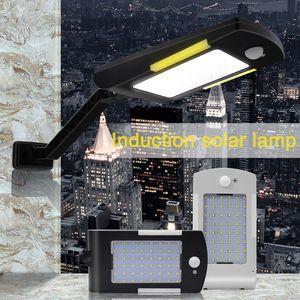 54 LEDS 600LM Güneş Lambası Su Geçirmez Ayarlanabilir Hareket Sensörü LED Işıkları 3 Modları Güneş Bahçesi Açık Duvar Işık