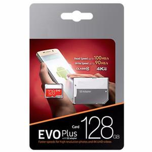 2020 Sıcak Satış U3 100 Mbps Evo Artı Sınıf 10 256 GB 128 GB 64 GB C10 TF Bellek Kartları ile SD Adaptörü Blister Paketi DHL Freeshipping