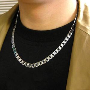 Мода простые мужчины твист сплюснутый широкий цепи ожерелье партии ювелирных изделий подарок на День Рождения Новый хип-хоп нержавеющая сталь мужской женский аксессуары 20 дюймов