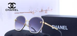 الموضة الجديدة النظارات الشمسية النظارات الشمسية ذات الحجم الكبير امرأة مرآة باردة
