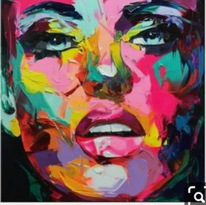 Francoise Nielly Palette knife portrait Face Oil painting Hand painted Character figure canva wall Art 2