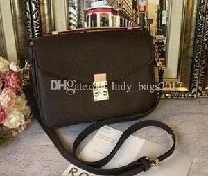 Newset Classic Handbags Messenger Bag Floral Print Real Leather handbag Pochette Metis Totes Purse Shoulder Women Crossbody Shopping Bags