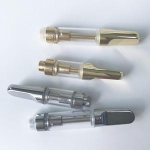 Silber, Gold, Glas dickes Öl Vape Patrone Verpackung TH205 1 ml 510 Keramikkartuschen leeren Dab Pen Wax Vaporizer E-Zigaretten Vape Atomizer