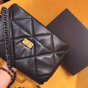bolsos de diseño-crossbody marca de moda de cuero de piel de oveja genuina solo hombro hermosas bolsas de la cadena de las señoras del bolso bolsos de estilo clásico