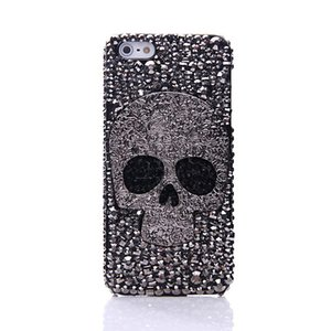 Diamond Metal saphire eye Skull phone case For IPhone 8 X XR XS Max 7 6 6S Plus 5 Samsung Galaxy Note S7 S6 Edge Plus S5 S4 S3