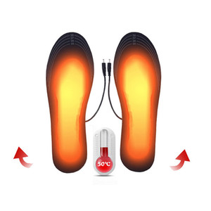 USB Heated Insoles Foot Warming Pad Feet Warmer Sock Pad Mat Winter Outdoor Sports Heating Shoe Insoles Winter Warm new