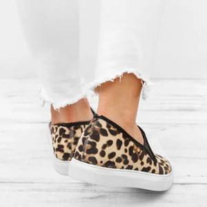 PUIMENTIUA Flats 2019 Moda Leopard Kadınlar Günlük Ayakkabılar Bahar Düz Ayakkabı Kadınlar Loafers Roman Ayakkabı Sneakers Loafers Slip On