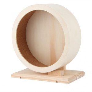 Pet Hamster Toy Wooden Bracket Silent Pet Exercise Running Wheel Toy for Hamster Guinea Pig Hedgehog Chinchilla