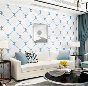 New Simple 3d wallpaper living room bedroom walls Rotating white spac background wall home improvement 3d mural wallpaper
