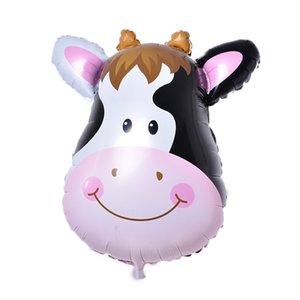Mini Animal 6Pcs / Lot capo Foil Palloncini gonfiabili Air Balloon Buon Compleanno Decorazione per feste bambini Baby Shower per feste Altri eventi
