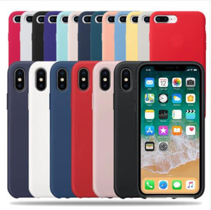Оптовые официальные силиконовые чехлы для iPhone 11 7 8 6 Plus cover capa для iPhone X XS Max XR Case on iPhone 7 6S 8 Plus SE 2 2020