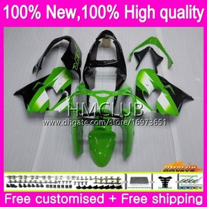 Body For KAWASAKI ZX-9R ZX900 ZX 900 ZX9 R 00 01 Bodywork 65HM.1 900CC ZX 9 R ZX9R 00-01 ZX900CC ZX 9R 2000 2001 Fairing kit Green black hot