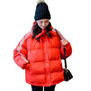 Harajuku style veste d'hiver femmes 2019 nouveaux étudiants capuche en coton rembourré shortbread casaque BF vent Oversize vêtement CM777
