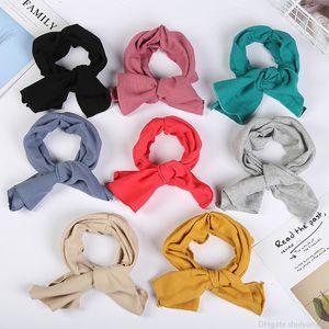 Mode Stripe bowknot bandeau élastique tête bande pour femmes filles Volants croisillons élastique Bow Headwrap Band Accessoires cheveux Bijoux