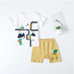 PatPat 2020 New Summer Baby's Clothing male 2pcs Animal Baby's Sets Kids Boy Sets Suits Baby Clothes
