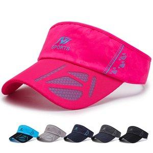 Bai da mao Childrens vacíos sombrero de copa del Sol-Protección de secado rápido al aire libre Running Tenis Deportes Sombrero para hombre Sombrero