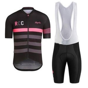 2019 Rapha Ropa de ciclismo Conjuntos de ciclismo Uniforme de bicicleta Mans de verano Ciclismo Jersey Set Road Bicycle Jerseys MTB Bicicletas Desgaste