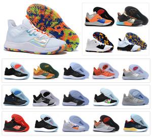 Sıcak Paul George PG 3 3 S III TS GS ID EP Palmdale Basketbol Ayakkabı Ucuz PG3 Yıldızlı Mavi Turuncu Spor Sneakers Boyutu 40-46