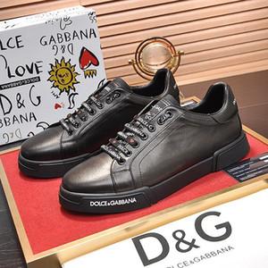 New Sapatos Masculinos Sneakers Moda Flats respirável ocasional ao ar livre bezerro Nappa Portofino Sneakers Scarpe da uomo Projeto Mens sapatos de luxo