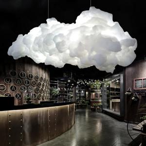 Modern Yüzer Bulut Led Avize Aydınlatma Beyaz Pamuk Salon Led Avizeler Lambası Yemek Odası Işıklar armatürü Asma