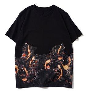 Mens Dog Animal print qualità donne di alta T shirt Uomo Nuovo arrivo Stampa manica corta Moda Estate Cotone Tees formato S-2XL